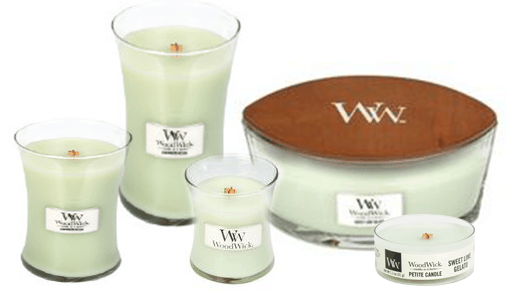 bekänna vi Avdelning  WoodWick Sweet Lime Gelato Doftljus, Finns i flera storlekar | RUM1